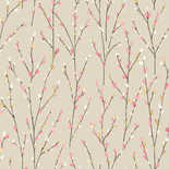 Behang Dutch First Class Enchanted Garden Catkins beige-roze