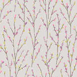 Behang Dutch First Class Enchanted Garden Catkins lila-lime