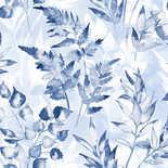 Behang Dutch First Class Glasshouse Cedar blauw-wit