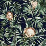 Behang Dutch First Class Glasshouse Nia navy-groen-roze