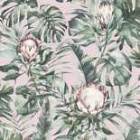 Behang Dutch First Class Glasshouse Nia roze-groen