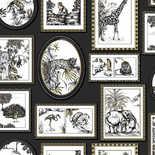 Behang Dutch First Class Glasshouse Savanah Gallery zwart-goud