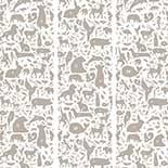 Behang Dutch Wallcoverings KEK animal alphabet donkergrijs WP.046