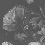 Behang Dutch Wallcoverings KEK Big Black en White Flowers I WP.345