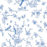Behang Dutch Wallcoverings KEK Birds en Blossom blue WP.378