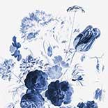 Behang Dutch Wallcoverings KEK Royal Blue Flowers I WP.207