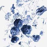 Behang Dutch Wallcoverings KEK Royal Blue Flowers I WP.217