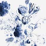 Behang Dutch Wallcoverings KEK Royal Blue Flowers II WP.218