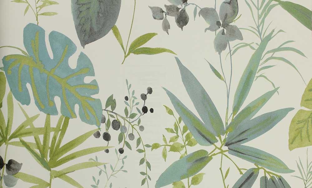 Behang Kleur Eucalyptus : Behang eijffinger grenada behangsite