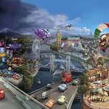 Behang Komar Disney Cars World