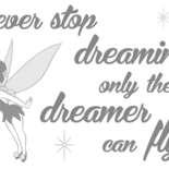 Behang Komar Disney Never Stop Dreaming Sticker