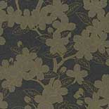 Behang Little Greene 20th Century Papers Camellia Late 19th Charcoal