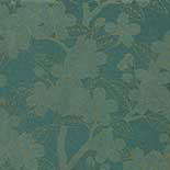 Behang Little Greene 20th Century Papers Camellia Late 19th Teal