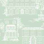 Behang Little Greene 20th Century Papers Hampstead 1949 Cool Grey