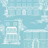 Behang Little Greene 20th Century Papers Hampstead 1949 James Blue