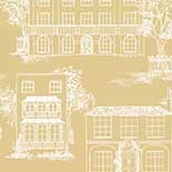 Behang Little Greene 20th Century Papers Hampstead 1949 Yellow Apple