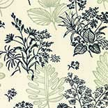 Behang Little Greene 20th Century Papers Norcombe 1949 Couture