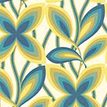 Behang Little Greene 20th Century Papers Starflower 1967 Peacock
