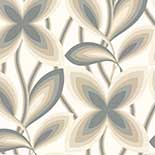 Behang Little Greene 20th Century Papers Starflower 1967 Platinum