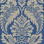 Behang Little Greene 20th Century Papers Zingara 1960 Cerulean Sea