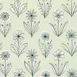 Behang Little Greene 50s Line Papers Florette 1954 Classic Grey
