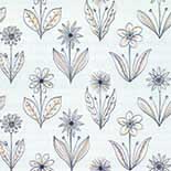 Behang Little Greene 50s Line Papers Florette 1954 Soft Blue