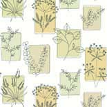 Behang Little Greene 50s Line Papers Herbes 1955 Coronation