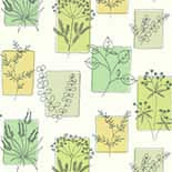 Behang Little Greene 50s Line Papers Herbes 1955 Spring