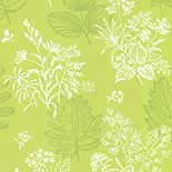 Behang Little Greene 50s Line Papers Norcombe 1949 Citron