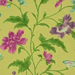 Behang Little Greene Archive Trails China Rose 1885 Emerald Lustre