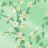 Behang Little Greene Archive Trails Sakura 1936 Aqua Lustre