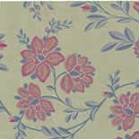 Behang Little Greene Archive Trails Stitch 1940 Berry