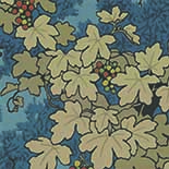 Behang Little Greene Archive Trails Vine 1932 Bleu