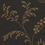 Behang Little Greene London Wallpapers II Bedford Square 1900 Ebony Gold