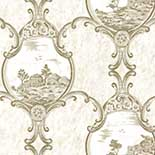 Behang Little Greene London Wallpapers III Crooms Hill 1760 Fresco
