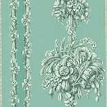 Behang Little Greene London Wallpapers IV Chelsea Bridge 1850 Archive Blue