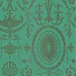 Behang Little Greene London Wallpapers IV Pall Mall 1950 Canton Gold