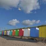 Behang Noordwand Holland 5444-250 Strandhuisjes