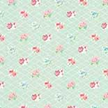 Behang Room Seven Field of Flowers Losange Mint 3900036