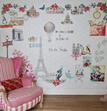 Room Seven Mural Paris Je T'aime Blue 2200111