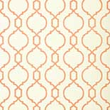 Thibaut Geometric 2 T11060 Coral on Cream Behang