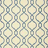 Thibaut Geometric 2 T11074 Blue on Cream Behang