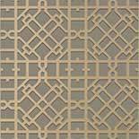 Thibaut Geometric 2 T11035 Metallic Gold on Charcoal Behang