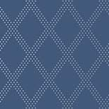 Thibaut Geometric 2 T11040 Silver on Navy Behang