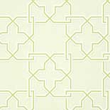 Thibaut Graphic Resource T35126 Green on Beige Behang