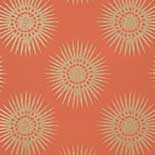 Thibaut Graphic Resource T35146 Metallic Gold on Coral Behang