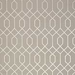Thibaut Graphic Resource T35203 Metallic Pewter on Taupe Behang