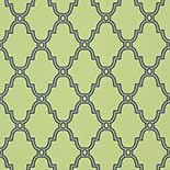 Thibaut Graphic Resource T35116 Navy on Green Behang