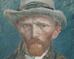 Van Gogh Behang : Tarweveld met cypressen vincent van gogh van hollandse meesters