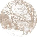 Esta Home Forest Friends 159072 Zelfklevende Behangcirkel